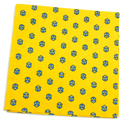 VALDROME Provence print fabric tea towel (Basilic. yellow)