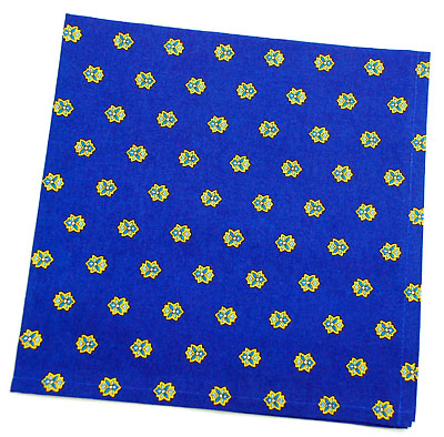VALDROME Provence print fabric tea towel (Basilic. navy)