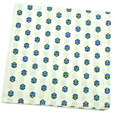 VALDROME Provence print fabric tea towel (Basilic. raw x blue)