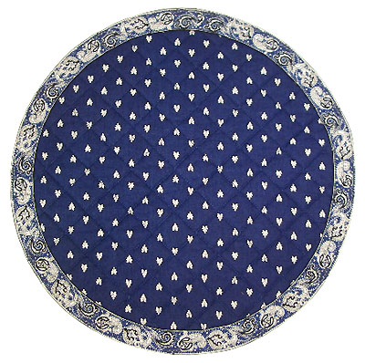 Round Quilted Mats, Valdrome (manade, navy)