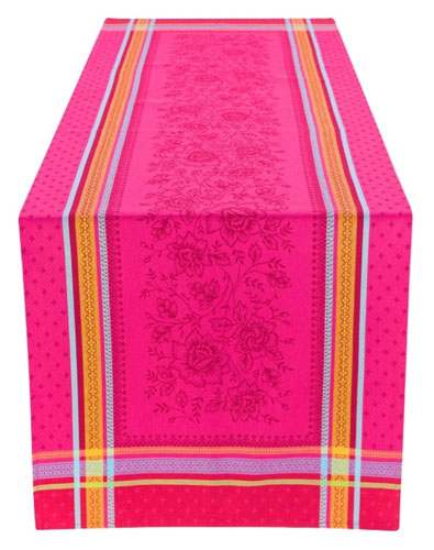 Jacquard Teflon Table runner (Marat d'Avignon Massilia. rose