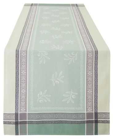 Jacquard Teflon Table runner (Olivia. 3 colors)