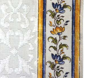 French Jacquard table runner