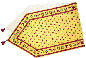 Provencal Table center - runner (flower. yellow x bordeaux)