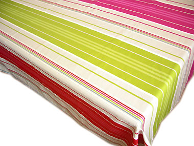 French Basque tablecloth coated