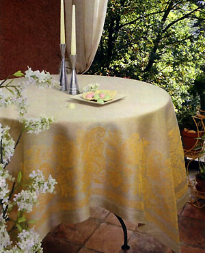 French wedding linen tablecloth