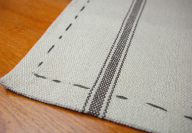 Provence rectangle hemp tablecloth
