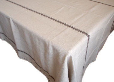 French linen tablecloth