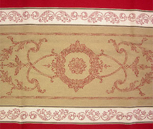 Provence coated tablecloth