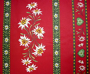 Provence Christmas rectangle coated tablecloth