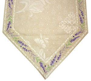 French Damask Jacquard table runner