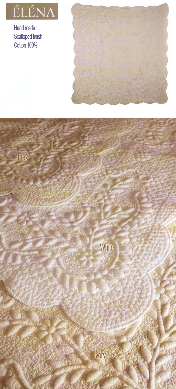 Provence quilt boutis bedspread