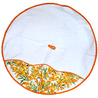 Provence round hand towel - face towel