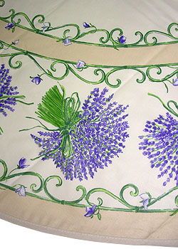 Provence fabric round coated tablecloth