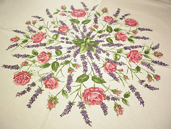 Provence round coated tablecloth