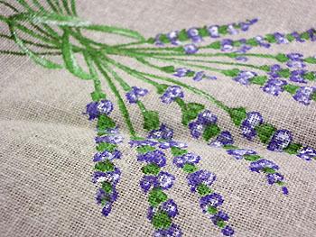 Provence fabric lavender linen