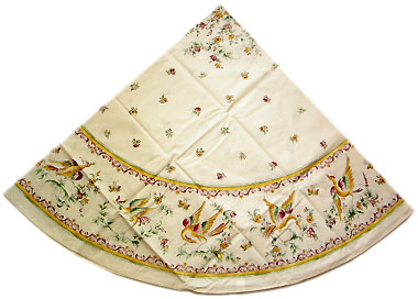 French round coated tablecloth