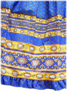 Hippie skirt tiered with elasticated waist