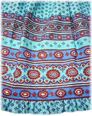 Bohemian skirt, tiered with elasticated waist
