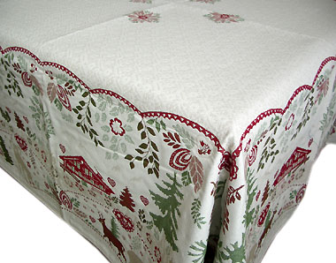 French Christmas Tartan rug