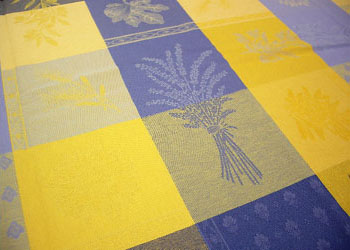 Superieur Provence Round Coated Tablecloth