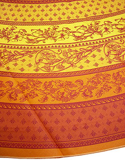 Coated Provence round tablecloth